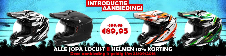 Introductie aanbieding! Alle Jopa Locus II helmen 10% korting!