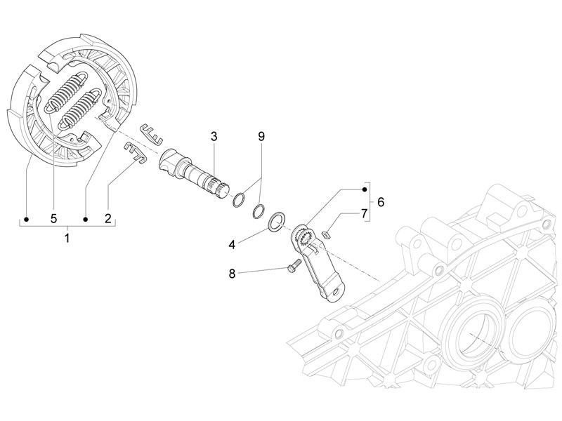 Rear brake - Brake jaw
