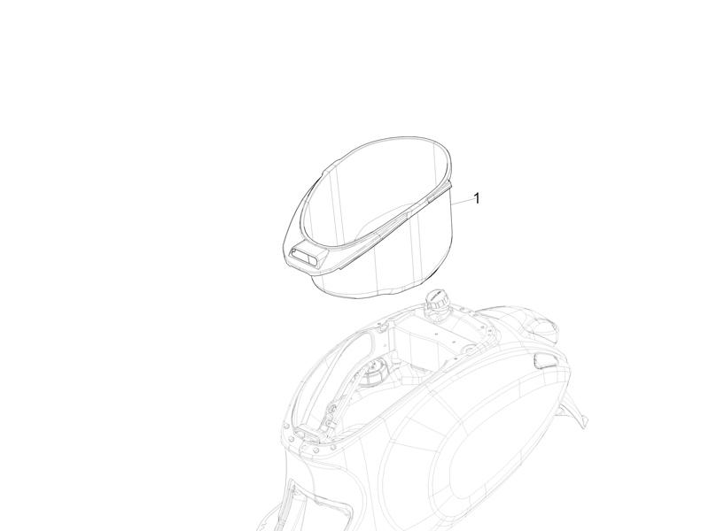 Helmet huosing - Undersaddle
