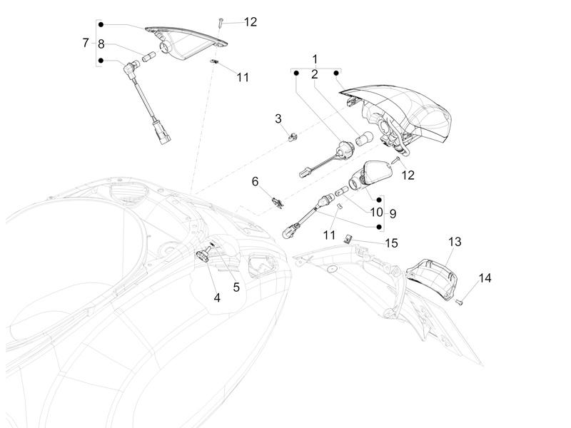Rear headlamps - Turn signal lamps