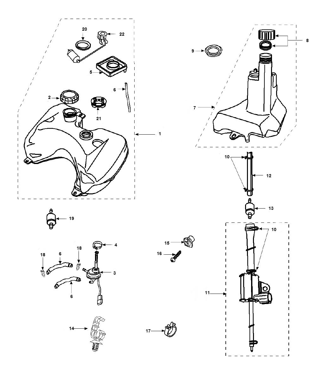 Benzinetank - Olietank