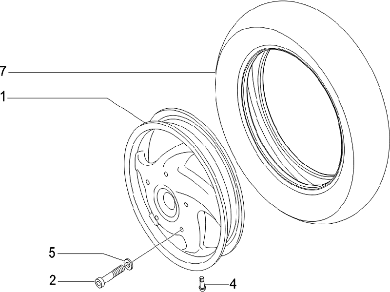 40.FRONT WHEEL ASSEMBLY