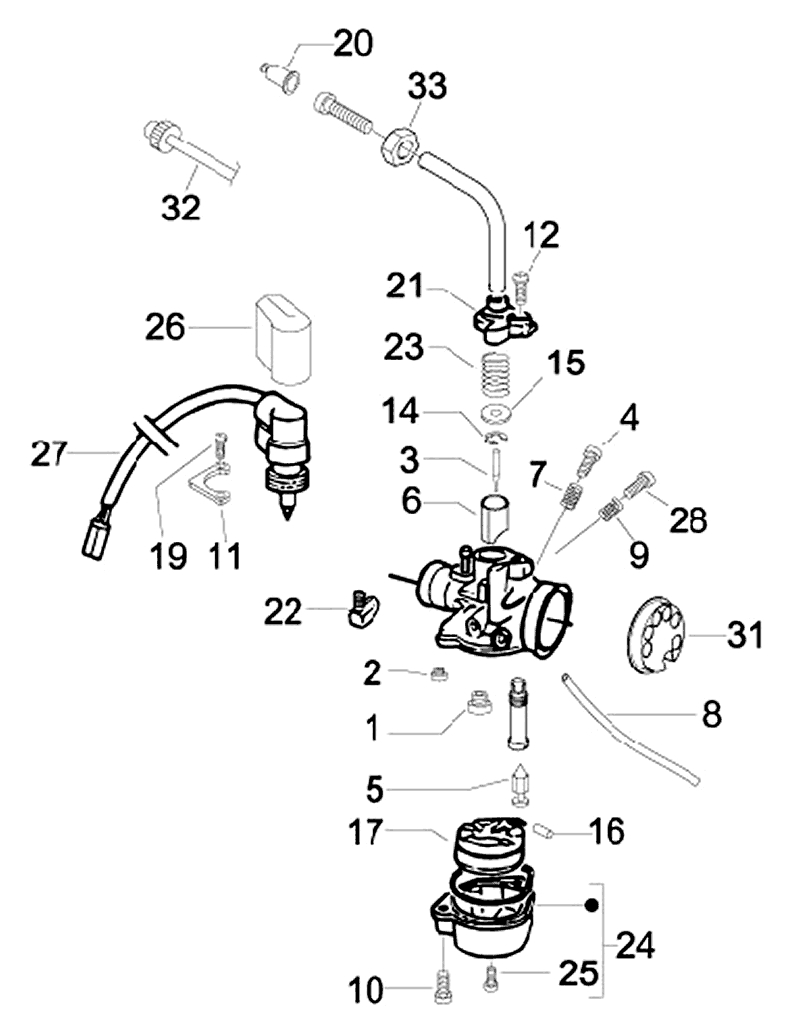 16.CARBURETOR COMPONENTS