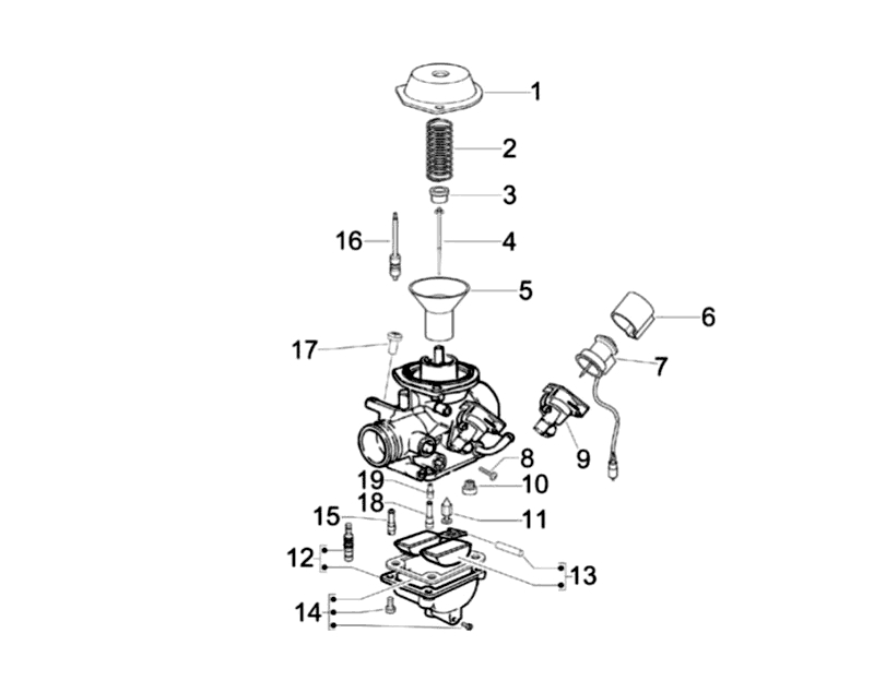 18.CARBURETOR COMPONENTS