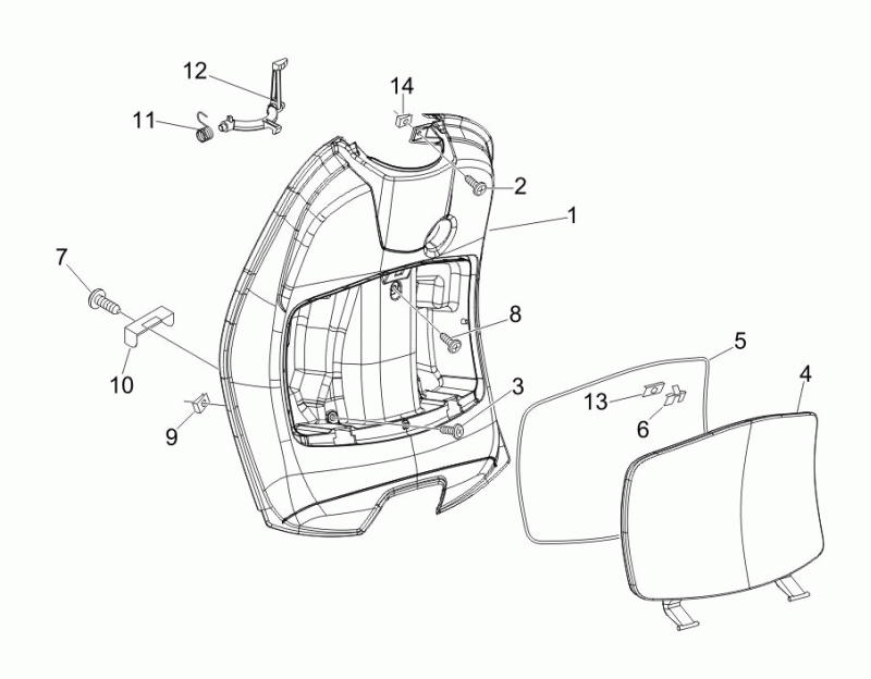 25.INNER FRONT SHIELD - GLOVE BOX
