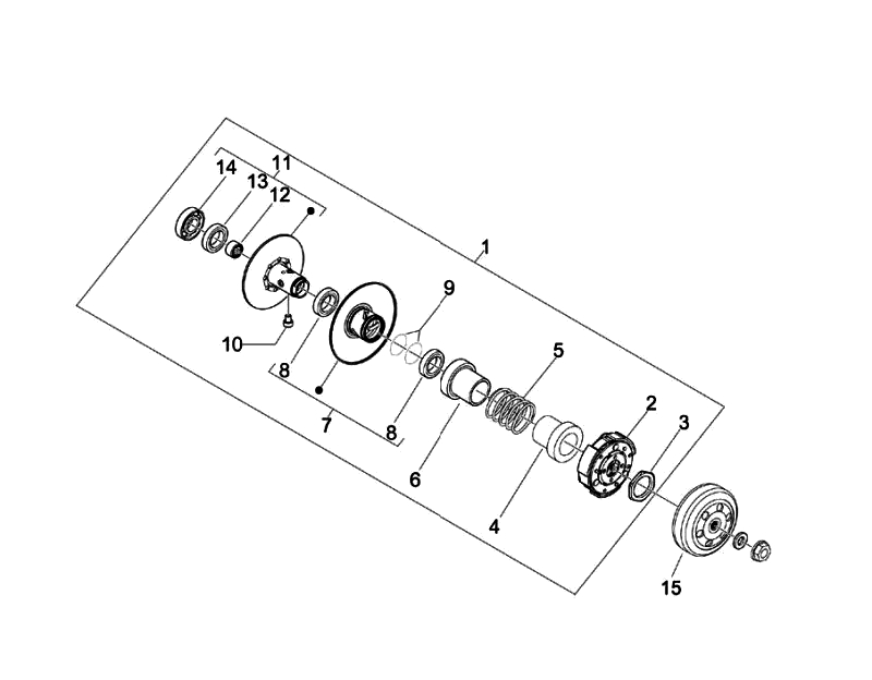 9.DRIVE SIDE PULLEY