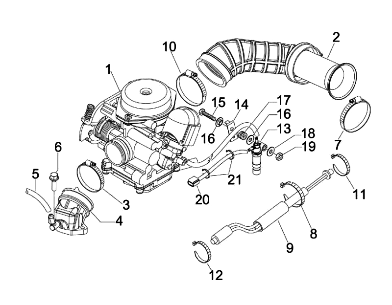 17.CARBURETOR MAINFOLD