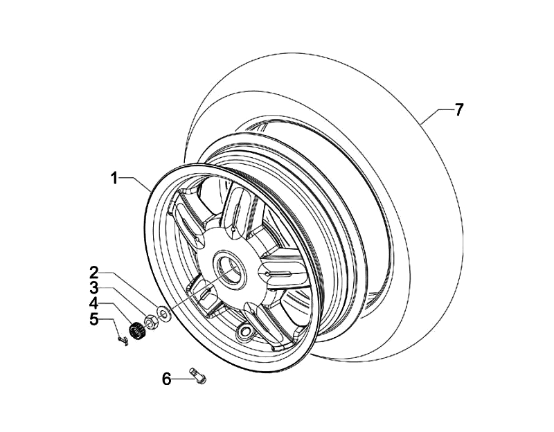 43.REAR WHEEL ASSEMBLY