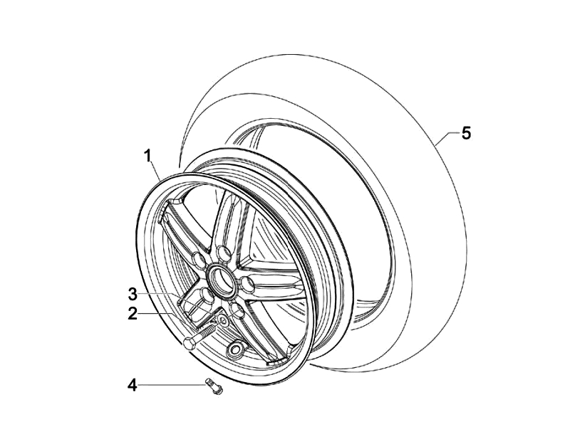 42.FRONT WHEEL ASSEMBLY