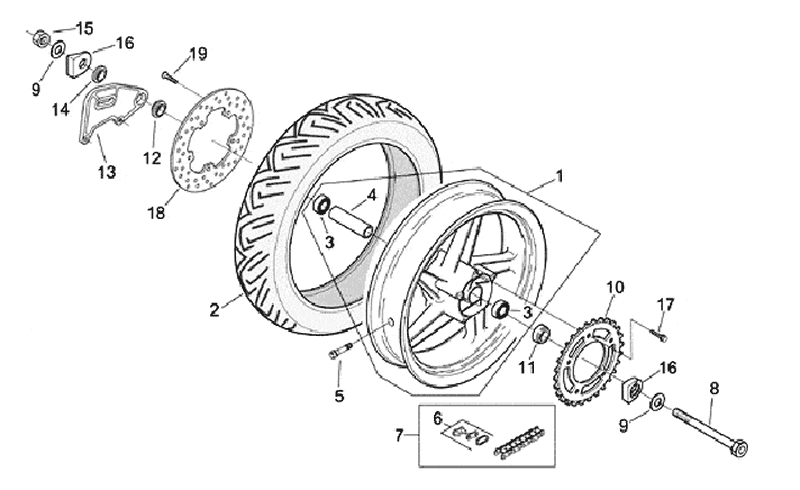 26.REAR WHEEL ASSEMBLY