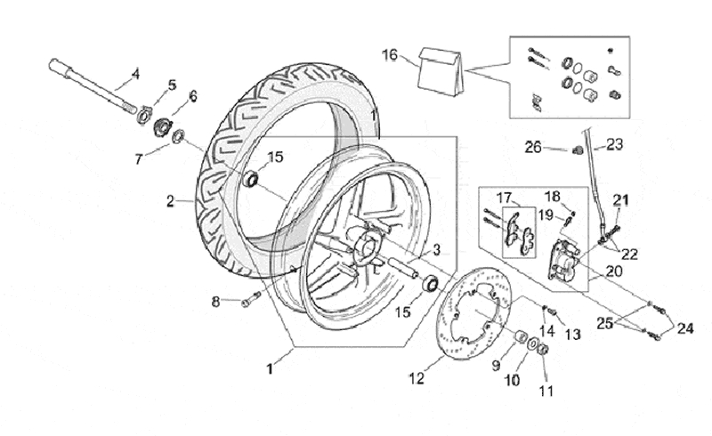 25.FRONT WHEEL ASSEMBLY