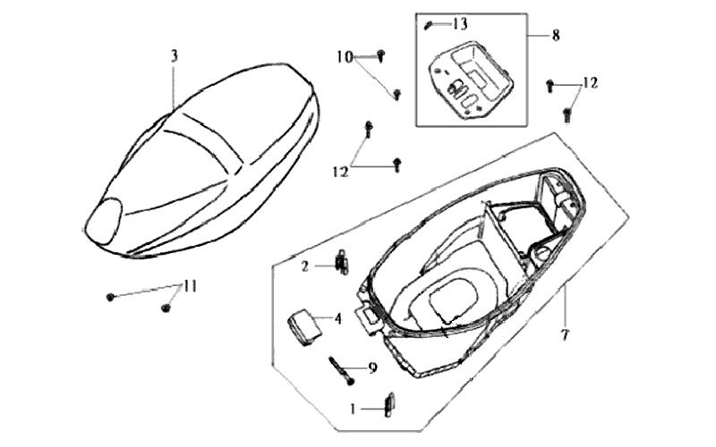 21.SEAT - LUGGAGE BOX