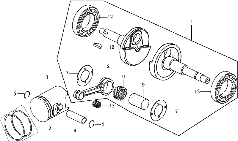 3.CRANKSHAFT - PISTON