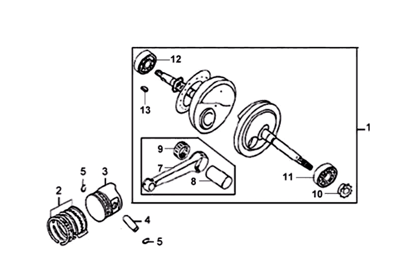16.CRANK SHAFT PISTON