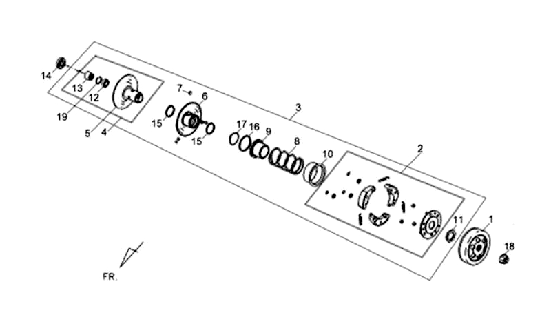 6.DRIVEN PULLEY ASSY