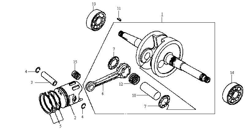 10.CRANKSHAFT - PISTON