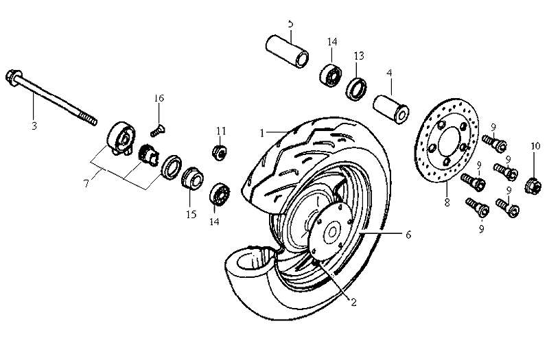 17.FRONT WHEEL