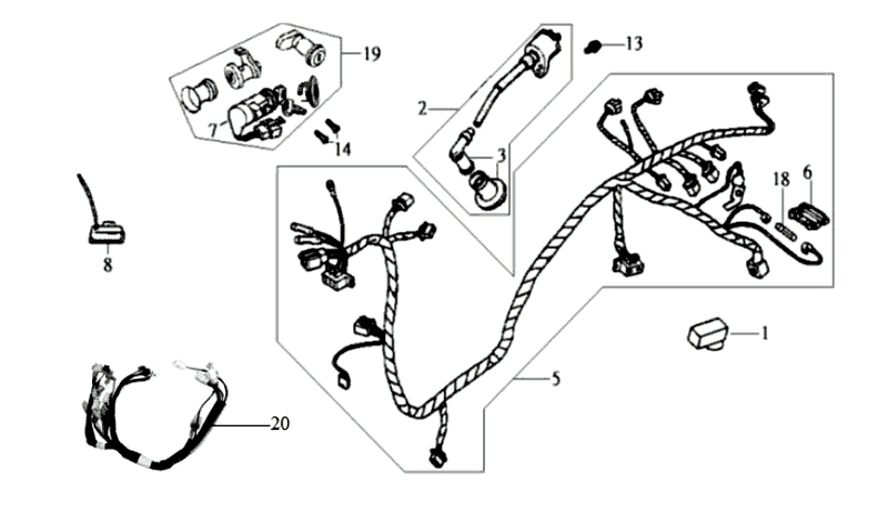 31.WIRE HARNESS, IGNITION COIL
