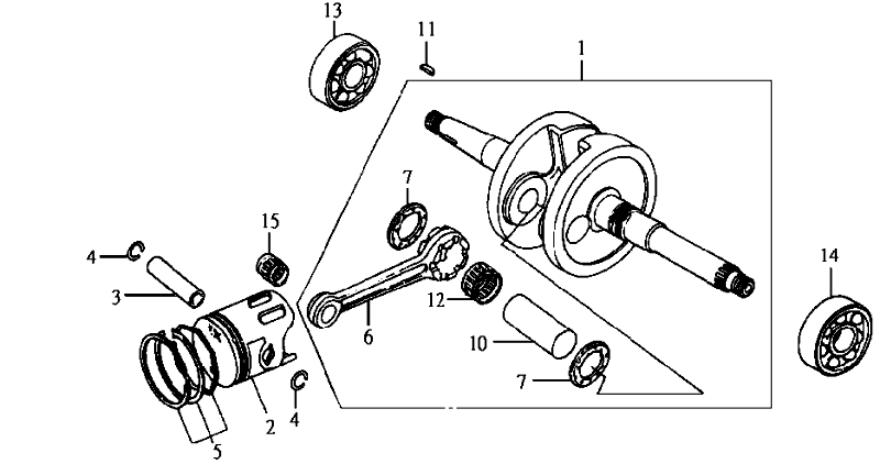10.CRANK SHAFT, PISTON