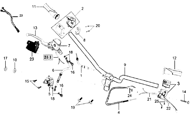 16.STEERING HANDLE ASSY