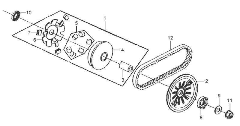 9.MOVABLE DRIVE FACE ASSY
