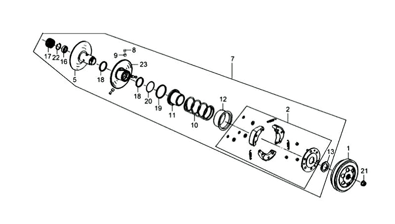 10.DRIVEN PULLEY ASSY