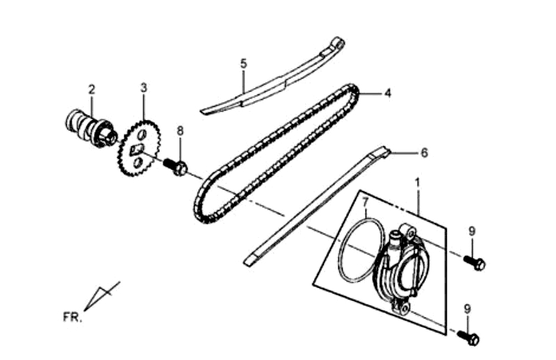 3.CAM SHAFT-CYL. HEAD L. SIDE COVER
