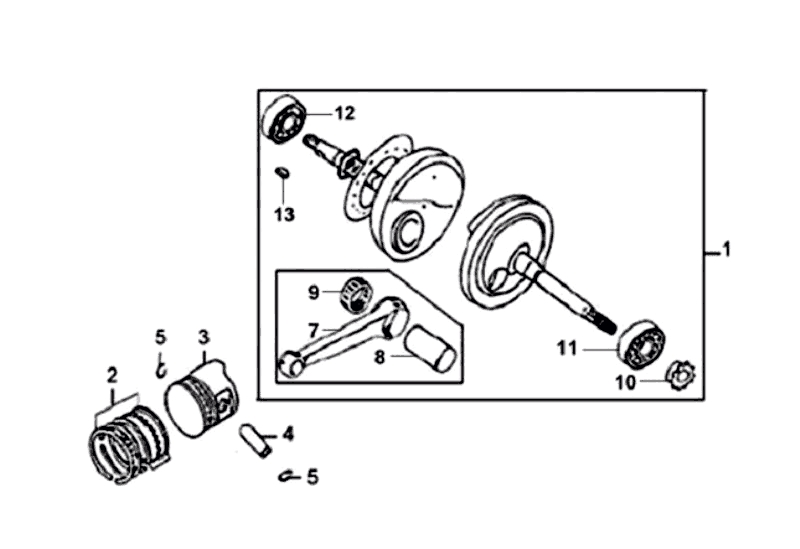 16.CRANK SHAFT - PISTON