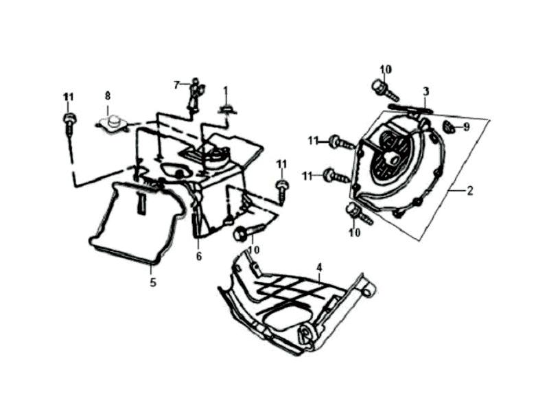 1.FAN COVER - ENGINE SHROUD