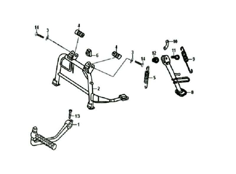 33.MAIN STAND - KICK STARTER ARM