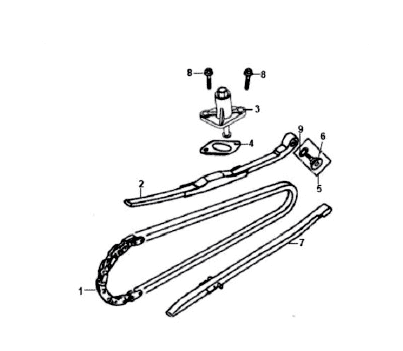 5.CAM CHAIN - TENSIONER