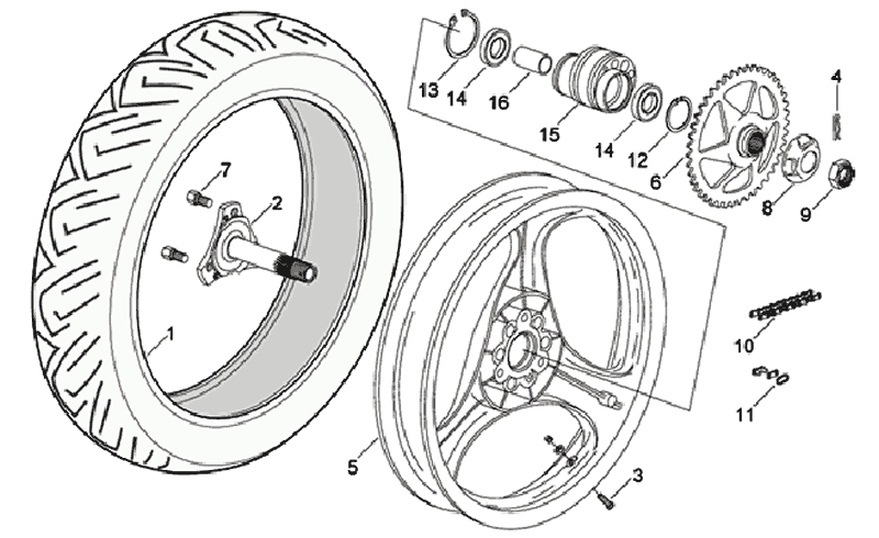 27.REAR WHEEL ASSEMBLY