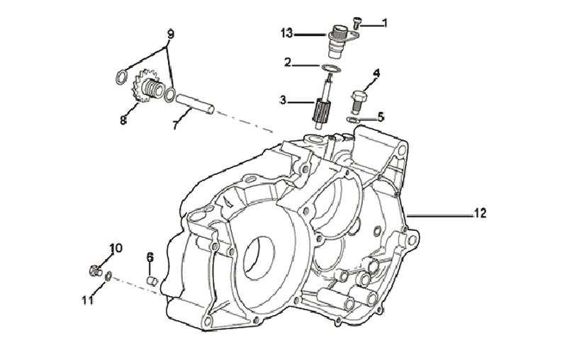 44.ENGINE HOUSING LEFT