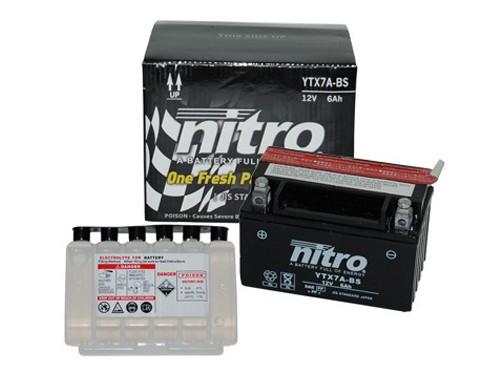 Nitro Accu NTX7A-BS (YTX7A-BS) + Zuurpakket