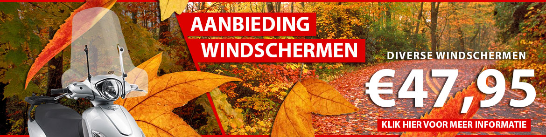 Aanbieding diverse windschermen €47,95