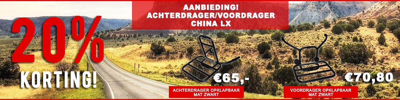 Aanbieding! Achterdrager/voordrager China LX