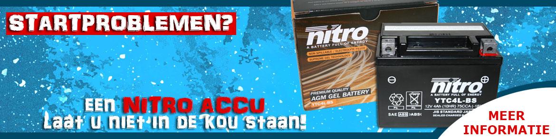 Een Nitro accu laat u niet in de kou staan!